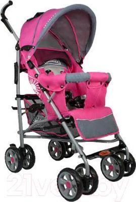 Детская прогулочная коляска INFINITY Lider Light (розовый) - общий вид