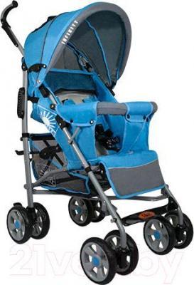 Детская прогулочная коляска INFINITY Lider Light (голубой) - общий вид
