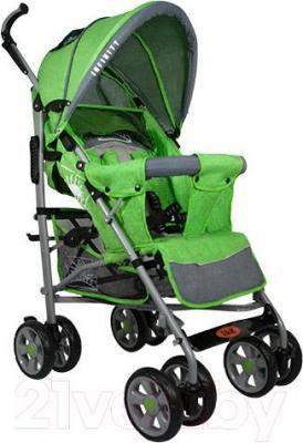 Детская прогулочная коляска INFINITY Lider Light (зеленый) - общий вид