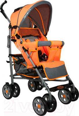 Детская прогулочная коляска INFINITY Lider Light (оранжевый) - общий вид