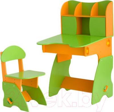 Стол+стул Столики Детям СО-3 (салатово-оранжевый) - общий вид