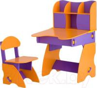 Стол+стул Столики Детям ФО-3 (фиолетово-оранжевый) -