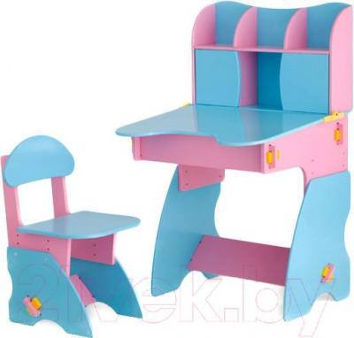 Стол+стул Столики Детям РГ-3 (розово-голубой) - общий вид