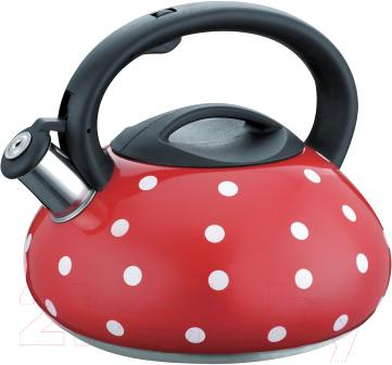 Чайник со свистком Peterhof PH-15621 (красный) - общий вид