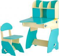 Стол+стул Столики Детям ББ-3 (бежево-бирюзовый) -
