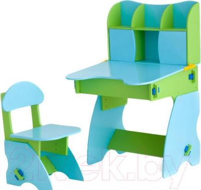 Стол+стул Столики Детям СГ-3 (салатово-голубой) - общий вид