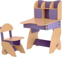 Стол+стул Столики Детям С-3 (сиренево-бежевый) -