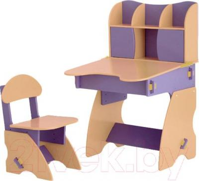 Стол+стул Столики Детям С-3 (сиренево-бежевый) - общий вид