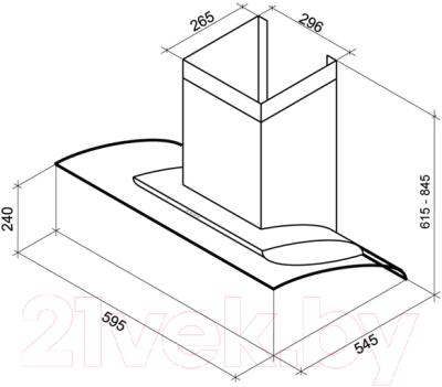 Вытяжка декоративная Shindo ALIOT PS 60 B/OG 3ETC