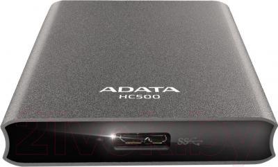 Внешний жесткий диск A-data HC500 1TB Titanium (AHC500-1TU3-CTI) - вид снизу