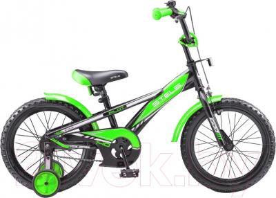 Детский велосипед Stels Pilot 140  (18, черно-зеленый)