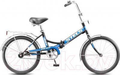 Велосипед Stels Pilot 410 (20, черно-синий)