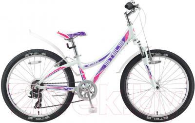 Велосипед Stels Navigator 430 V (24, бело-пурпурно-розовый)