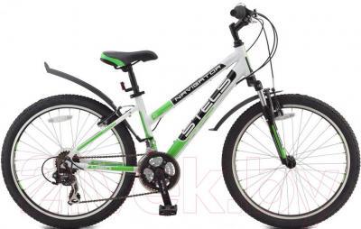 Велосипед Stels Navigator 450 V (24, бело-черно-зеленый) - общий вид