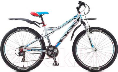 Велосипед Stels Navigator 510 V (бело-черно-красно-голубой) - общий вид