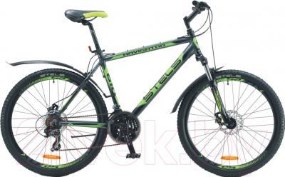Велосипед Stels Navigator 610 MD (21.5, серый, черный, салатовый)