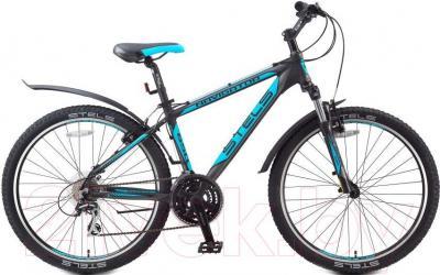 Велосипед Stels Navigator 650 V (19.5, черно-серо-голубой) - общий вид