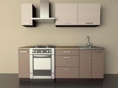 Готовая кухня Лавесон  К.001.15 (вудлайнер кремовый-лайт)