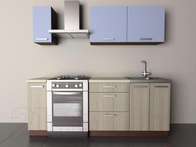 Готовая кухня Лавесон К.001.15 (голубой лёд-дрифт)