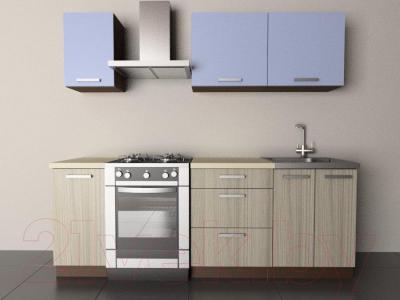 Готовая кухня Лавесон К.001.16 (голубой лёд-дрифт)