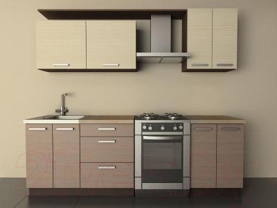 Готовая кухня Лавесон К.001.18 (вудлайнер кремовый-лайт)