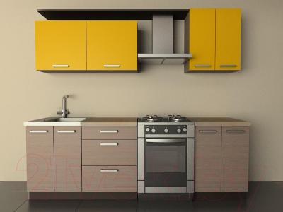 Готовая кухня Лавесон К.001.18 (желтый бриллиант-лайт)