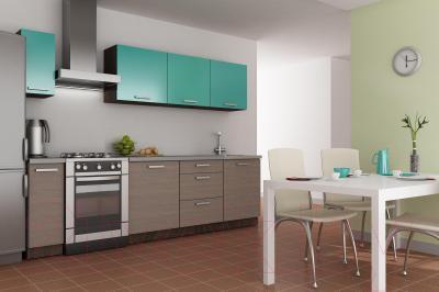 Готовая кухня Лавесон К.001.21 (васаби-дрифт) - пример размещения в интерьере