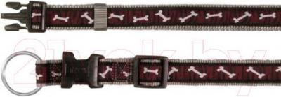 Ошейник Trixie Modern Art Collar Bonies 17083 (S-M, серо-бордовый) - общий вид