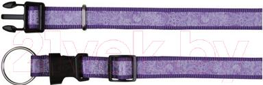 Ошейник Trixie Impression Collar Flower Power 15407 (S-M, фиолетовый) - общий вид