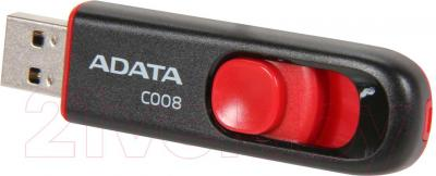 Usb flash накопитель A-data C008 Black-Red 16 Gb (AC008-16G-RKD) - общий вид