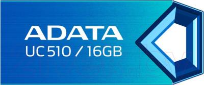 Usb flash накопитель A-data DashDrive Choice UC510 Blue 16GB (AUC510-16G-RBL) - общий вид