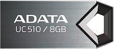 Usb flash накопитель A-data DashDrive Choice UC510 Titanium 8GB (AUC510-8G-RTI) - общий вид