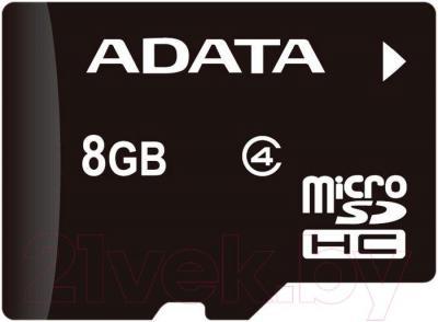 Карта памяти A-data microSDHC (Class 4) 8GB (AUSDH8GCL4-R) - общий вид