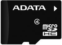 Карта памяти A-data microSDHC (Class 4) 8Gb (AUSDH8GCL4-RA1) -