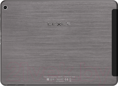 Планшет TeXet X-pad STYLE 10.1 16GB 3G / TM-9777 (+ автомобильное ЗУ) - вид сзади