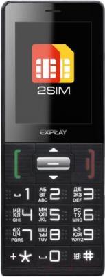Мобильный телефон Explay BM90 Dual (черный) - общий вид