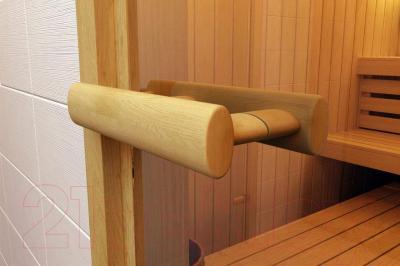 Стеклянная дверь для бани/сауны Aldo 690х1990 (стекло бронзовое матовое) - ручка