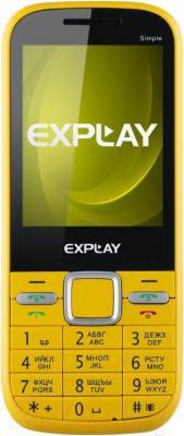 Мобильный телефон Explay Simple (желтый) - общий вид
