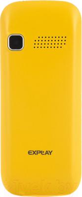 Мобильный телефон Explay Simple (желтый) - вид сзади