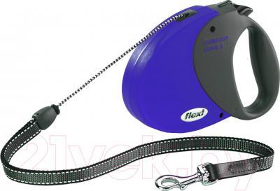 Поводок-рулетка Flexi Comfort Long 21272 (M, синий) - общий вид