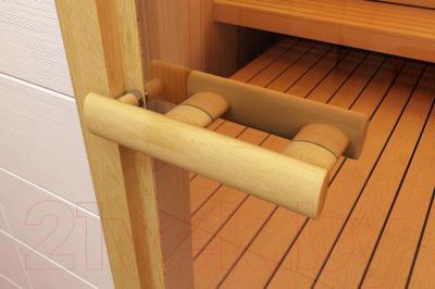 Стеклянная дверь для бани/сауны Aldo 690х2090 (стекло бронзовое матовое) - ручка