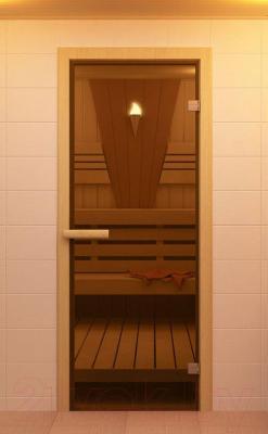 Стеклянная дверь для бани/сауны Aldo 790х1890 (стекло бронзовое) - общий вид