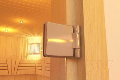 Стеклянная дверь для бани/сауны Aldo 790x1890 (стекло бронзовое матовое) - петля