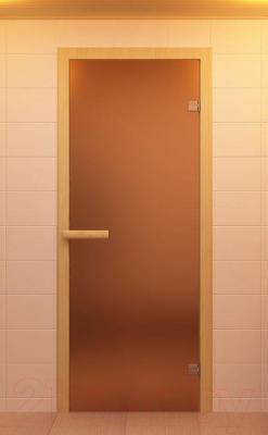 Стеклянная дверь для бани/сауны Aldo 790х2090 (стекло бронзовое матовое) - общий вид