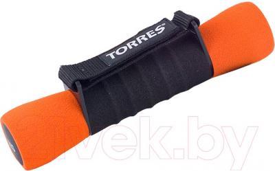Гантель Torres AL6004 (черно-оранжевый)