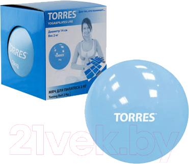 Медицинбол Torres YL00142 (голубой) - общий вид