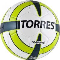 Футбольный мяч Torres Training F30055 (бело-зелено-серый) -