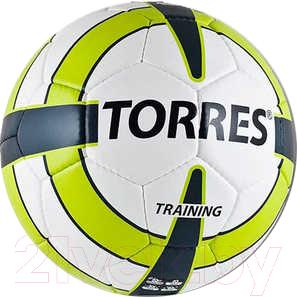 Футбольный мяч Torres Training F30055 (бело-зелено-серый) - общий вид