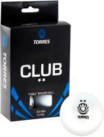 Мячи для настольного тенниса Torres Club TT0014 (белый) -