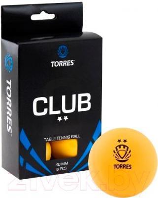 Мячи для настольного тенниса Torres Club TT0013 (оранжевый) - общий вид